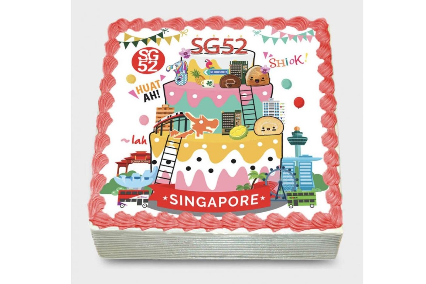 Customisable National Day Cake