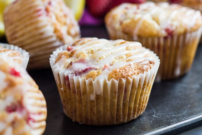 Strawberry Lemon Muffin